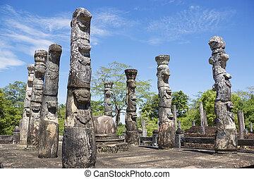 Nissankalata Mandapa, Polonnaruwa, Sri Lanka - Image of the...