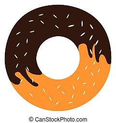Isolated doughnut icon on a white background, Vector...
