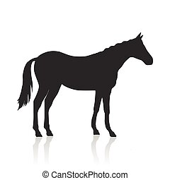 Sorrel Horse Logo - Sorrel horse black vector. Flat design....