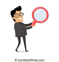 Searching Concept Flat Vector Illustration