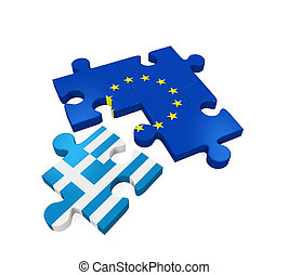 Grexit Puzzle Pieces