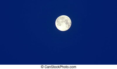 Moon sky night blue - Footage of super moon night