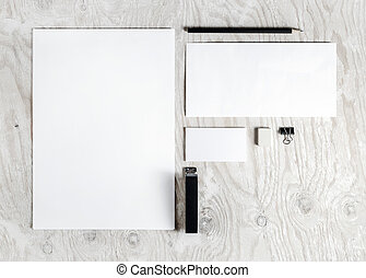 Blank stationery mock up - Photo of blank stationery set....
