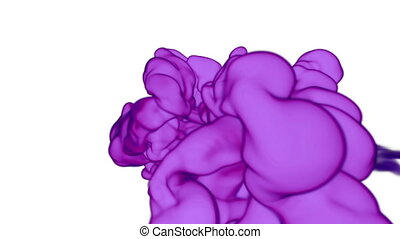 Abstract background of dissolve ink in water or smoke in air for effects and compositing with alpha mask. Use it for background, transition or overlays. 3d element VFX ink or smoke. Ver 12
