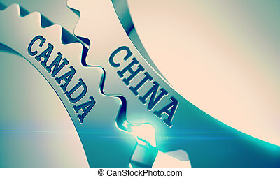 China Canada - Inscription on the Mechanism of Metallic...