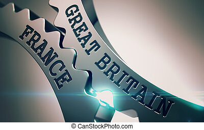 Great Britain France - Text on Mechanism of Metallic Gears....