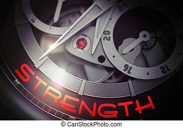 Strength on the Old Wrist Watch Mechanism. 3D. - Strength on...
