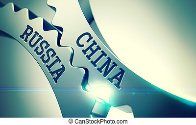 China Russia - Message on the Mechanism of Shiny Metal...