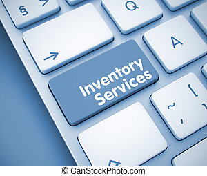 Inventory Services - Inscription on the Keyboard Key. 3D. -...