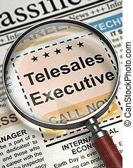 Job Opening Telesales Executive. 3D.