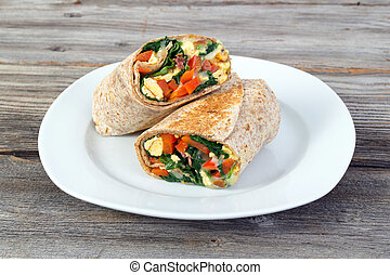 egg and spinash wrap sandwich - egg and spinash lunch wrap...