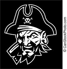 pirate mascot head for school, college or league