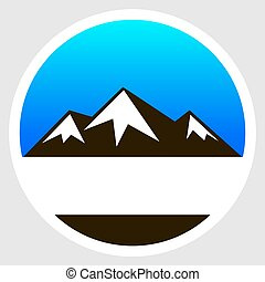 logo snowy mountains - Logo snowy mountains, vector art...