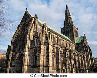Exterior of Glasgow Cathedral, also named the High Kirk of...