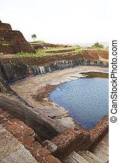 antiguo,  Lanka, cisterna,  Sigiriya,  Sri