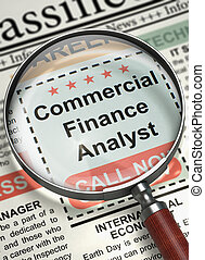Commercial Finance Analyst Wanted. 3D. - Commercial Finance...