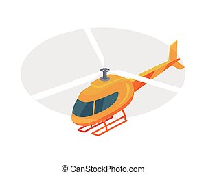 Helicopter Vector Icon in Isometric Projection