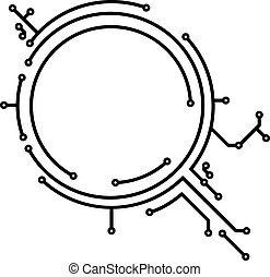 Abstract round PCB-style frame for your design