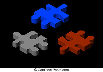 Jigsaw Puzzle Piece In Silver