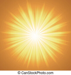 Abstract sun - colorful background made from orange and...
