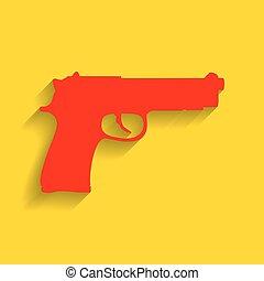 dorado, Ilustración, arma de fuego, señal, Plano de fondo,...