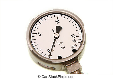 Pressure gauge isolated in a white background