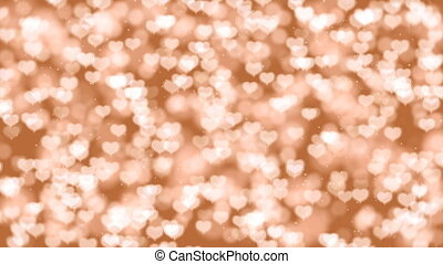 Valentine Hearts Bokeh Looped Animation Background.
