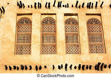 Traditional architecture in Doha, Qatar - Element of...