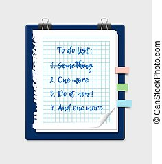 To do list on a notepad paper