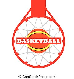 Isolated basketball emblem - Isolated basketball net with a...