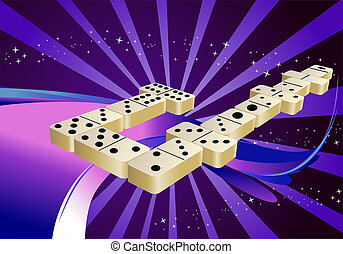 domino game for gambling game - illustration of a domino...