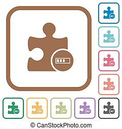 Plugin processing simple icons in color rounded square...