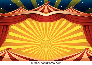Circus Tent Background