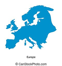 Detailed vector map of Europe Region