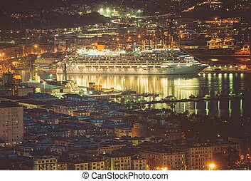 Cruise Ship in La Spezia - Cruise Ship in Port of La Spezia....