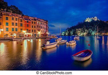 Portofino and Castello Brown - Portofino Fishing Village...