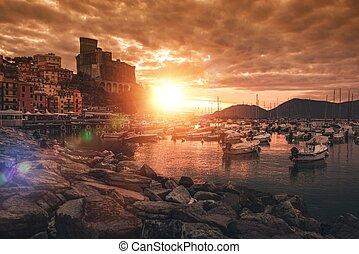 Lerici Town and Castle - Castello di San Giorgio. Lerici...