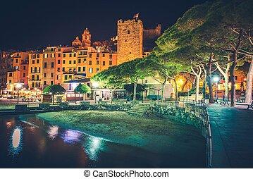 Porto Venere Night Scenery - Famous Italian Riviera Porto...