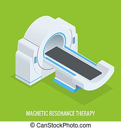 MRT machine for magnetic resonance imaging in radiology in a...