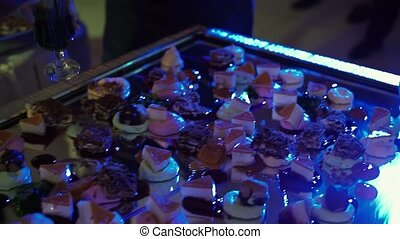 Cooking dessert on party shot