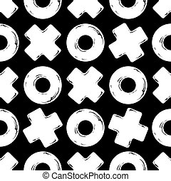 texture tic tac toe - Vector Black and white seamless...