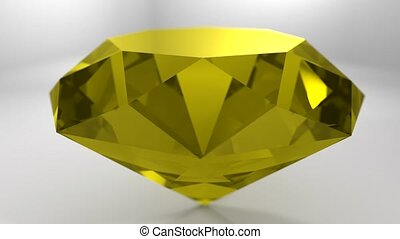 Yellow sapphire gemstone gem stone spinning wedding...