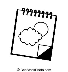 note book isolated icon vector illustration design