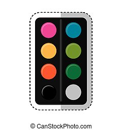colors pallette isolated icon vector illustration design