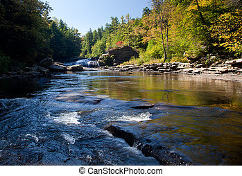 Swallow Falls Maryland - Upper falls in Swallow Falls State...
