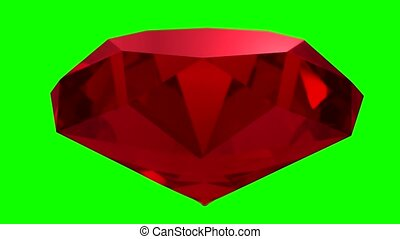 Ruby red gemstone gem stone spinning wedding background loop 4K