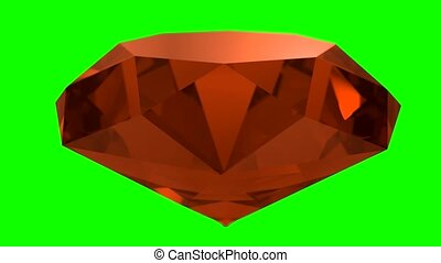 Amber orange gemstone gem stone spinning wedding background loop