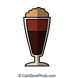 milkshake cup isolated icon vector illustration design