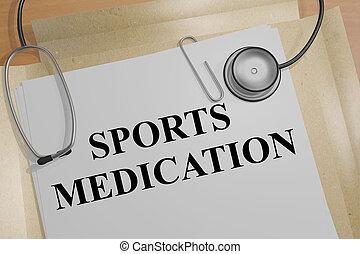 Sports Medicine - medical concept - 3D illustration of...