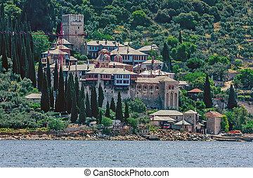 Docheiariou monastery on Mount Athos, Chalkidiki, Greece